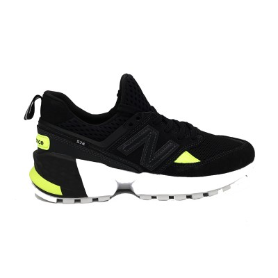 NEW BALANCE SNEAKERS 574 NERO BIANCO GIALLO MS574BRB