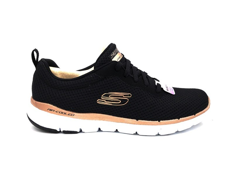 afdeddff4a7 SKECHERS SNEAKERS FLEX APPEAL 3.0 FIRST INSIGHT BLACK  ROSE GOLD 13070-BKRG