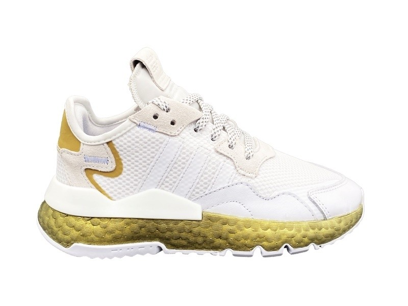 ADIDAS NITE JOGGER W SNEAKERS BIANCO ORO FV4138 DONNA