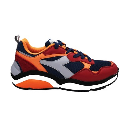 DIADORA WHIZZ RUN SNEAKERS ROSSO ARANCIO BLU 174340-C8218