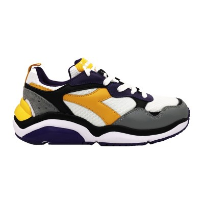 DIADORA WHIZZ RUN SNEAKERS BIANCO VIOLA GIALLO 174340-C8221
