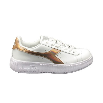 DIADORA SNEAKERS GAME STEP SHINY BIANCO ORO 174366-2006