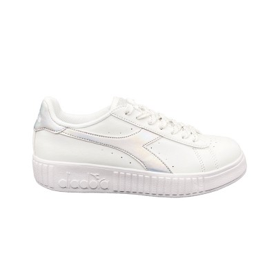 DIADORA GAME STEP SHINY SNEAKERS BIANCO ARGENTO 174366-C6103