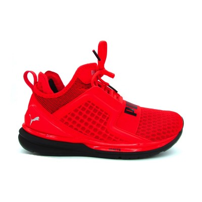 PUMA IGNITE LIMITLES JR SNEAKERS ROSSO NERO 189808--01