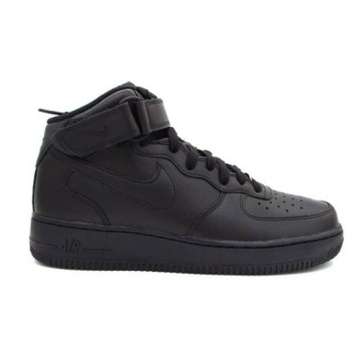NIKE AIR FORCE 1 MID '07 TOTAL BLACK 315123-001