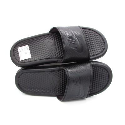NIKE SNEAKERS BENASSI JDI TOTAL BLACK 343880-001