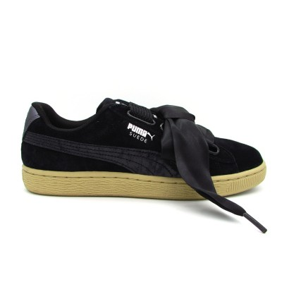 PUMA SNEAKERS SUEDE HEART SAFARI WN'S NERO-BEIGE 364083-03