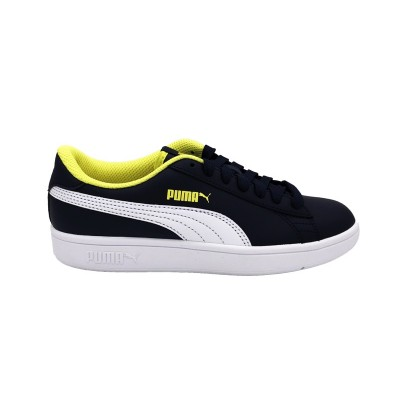PUMA SNEAKERS SMASH V2 L JR PEATCOAT-WHITE 365170-09