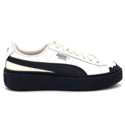 PUMA SN23EAKERS BASKET PLATFORM SCALLOP WN'S BIANCO NERO 366723-04