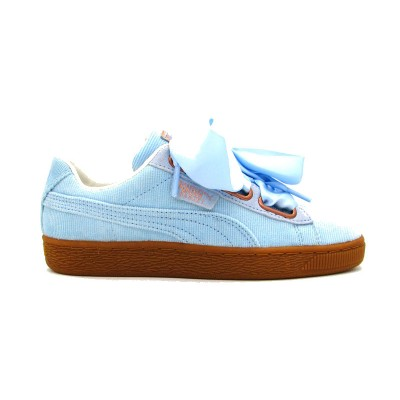 PUMA SNEAKERS BASKET HEART CORDUROY WN'S CELESTE MARRONE   366729-03