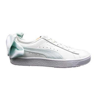 PUMA SNEAKERS BASKET BOW WN'S VERDE TIFFANY-BIANCO 367319-03