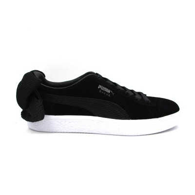PUMA SUEDE BOW UPRISING WN'S SNEAKERS NERO BIANCO 367455-01