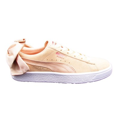 PUMA SNEAKERS SUEDE BOW VAL WN'S BEIGE BIANCO 367609-01