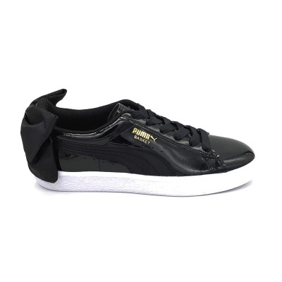 PUMA SNEAKERS BASKET BOW SB WN'S_KR NERO LUCIDO BIANCO 368130-01