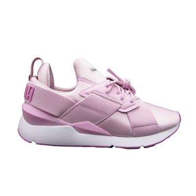 PUMA MUSE SATIN II WN'S SNEAKERS ROSA BIANCO 368427-03