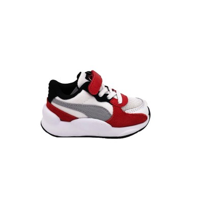 PUMA RS 9.8 SPACE AC INF SNEAKERS BIANCO ROSSO GRIGIO 370607-01