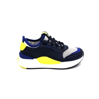 PUMA SNEAKERS RS-0 SMART PS BLU BIANCO GIALLO FLUO 370956-01
