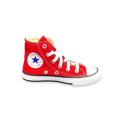 CONVERSE YTHS C/T ALLSTAR H SNEAKERS ROSSO BIANCO NERO 3J232C