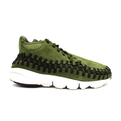 NIKE SNEAKERS AIR FOOTSCAPE WOVEN CHUKKA VERDE MILITARE 443686-300