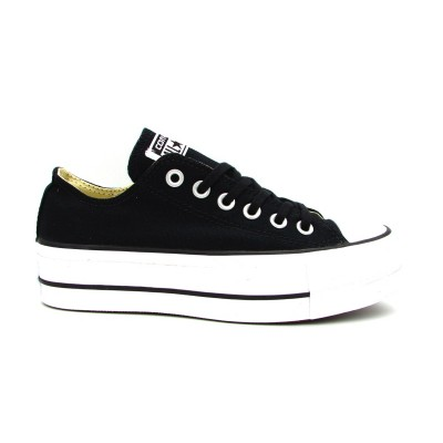 CONVERSE CTAS LIFT OX SNEAKERS NERO BIANCO  560250C