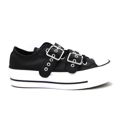 CONVERSE CTAS LIFT BUCKLE OX SNEAKERS   NERO BIANCO  562835C