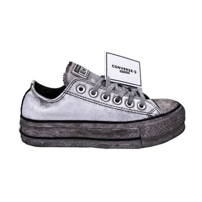 CONVERSE CTAS LIFT LEATH LTD OX SNEAKERS GRIGIO 562911C