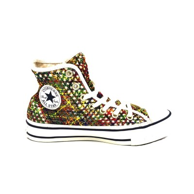 CONVERSE SNEAKERS CTAS HI EGRET/MULTI/MIDNIGHT NAVY 564871C