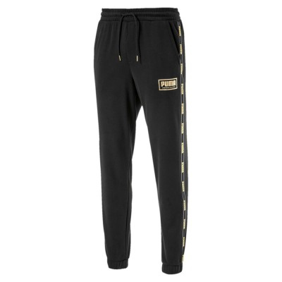 PUMA HOLIDAY PACK PANTS FL PANTALONE NERO ORO 581852-01