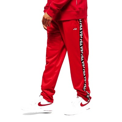 FILA MEN TAPE TRACK PANTS PANTALONE ROSSO 681868.006