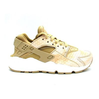 NIKE WMNS AIR HUARACHE RUN PRM SNEAKERS BEIGE BIANCO 683818-201