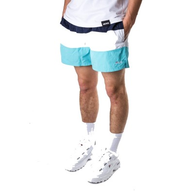 FILA MEN SALOSO SWIM SHORTS BLU BIANCO CELESTE 687203-A193