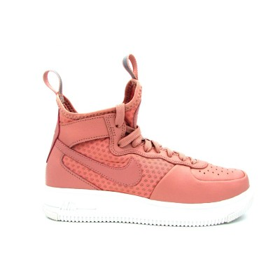 NIKE W AIR FORCE 1 ULTRAFORCE MID SNEAKERS ROSA BIANCO 864025-600