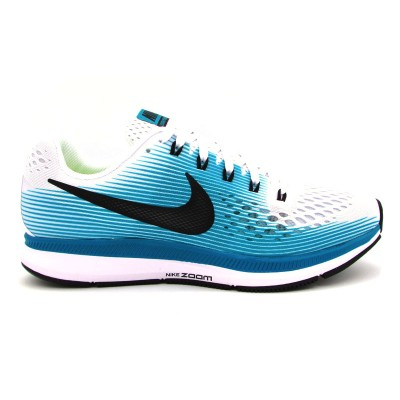 official photos 02461 9ad4d NIKE AIR ZOOM PEGASUS 34 SNEAKERS BIANCO VERDE NERO 880555-101