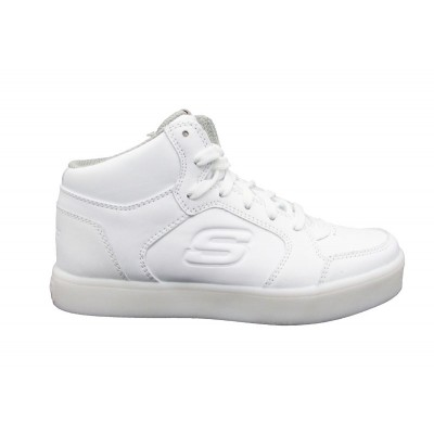 SKECHERS SNEAKERS ENERGY LIGHTS BIANCO 90600L-WHT