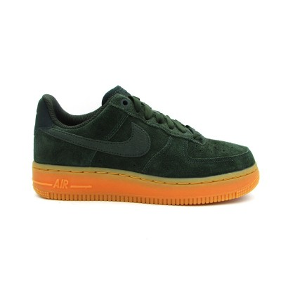NIKE WMNS AIR FORCE 1 '07 SE SNEAKERS VERDE MARRONE AA0287-300