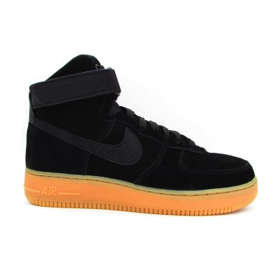NIKE SNEAKERS AIR FORCE 1 HIGH '07 LV8 SUEDE NERO-MARRONE AA1118-001