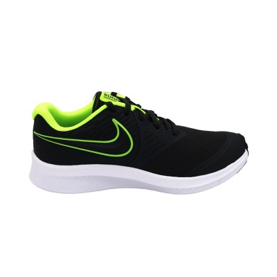 NIKE STAR RUNNER 2 GS SNEAKERS ANTRACITE VERDE FLUO AQ3542-004