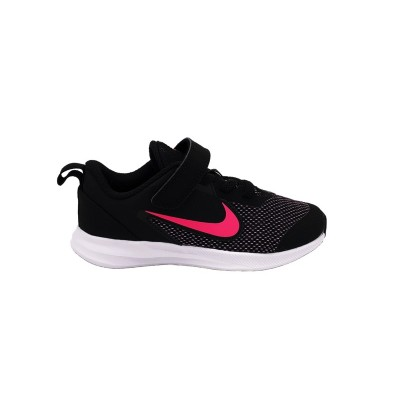NIKE DOWNSHIFTER 9 PS SNEAKERS NERO ROSA AR4138-003