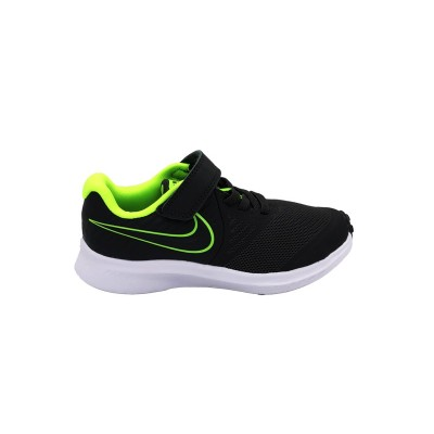 NIKE STAR RUNNER 2 PS SNEAKERS ANTRACITE VERDE FLUO AT1801-004