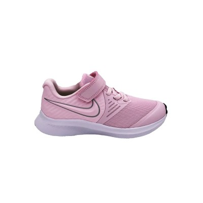 NIKE STAR RUNNER 2 PS SNEAKERS ROSA BIANCO ARGENTO AT1801-601