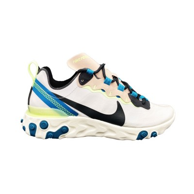 NIKE REACT ELEMENT 55 SNEAKERS PANNA BEIGE VERDE BQ2728-202
