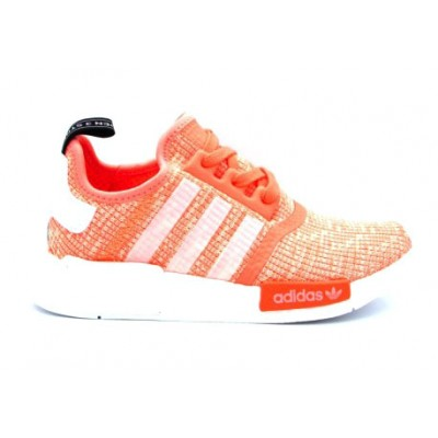 ADIDAS NMD R1 W SNEAKERS ROSA BIANCO BY3034
