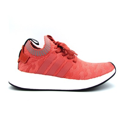 ADIDAS NMD_R2 PK W SNEAKERS ROSA PESCA BIANCO BY8782