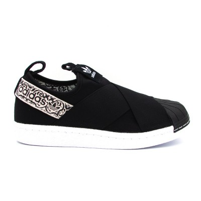 the best attitude d687f 97216 ADIDAS SUPERSTAR SlipOn W SNEAKERS NERO BIANCO BY9142
