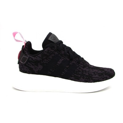 ADIDAS NMD_R2 W SNEAKERS NERO BIANCO ROSA BY9314