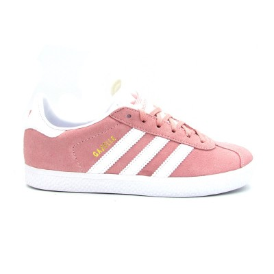 ADIDAS GAZELLE J SNEAKERS ROSA BIANCO BY9544