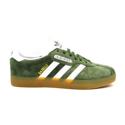 ADIDAS GAZELLE SUPER SNEAKERS VERDE MARRONE BIANCO BY9778