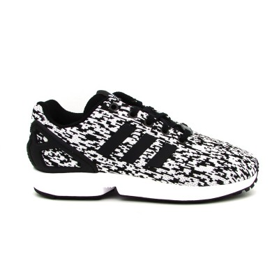 ADIDAS SNEAKERS ZX FLUX J BIANCO-NERO BY9829