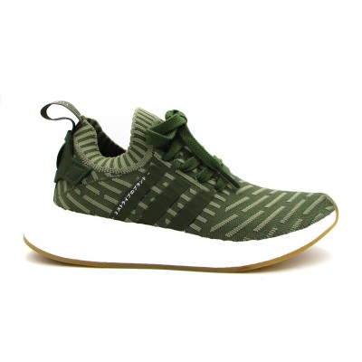 ADIDAS NMD_R2 PK W SNEAKERS VERDE BIANCO BY9953