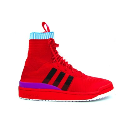 ADIDAS FORUM WINTER PK SNEAKERS ROSSO NERO VIOLA BZ0645